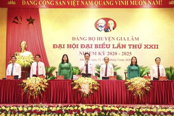 Phiên trù bị Đại hội Đại biểu Đảng bộ huyện Gia Lâm lần thứ XXII, nhiệm kỳ 2020 2025