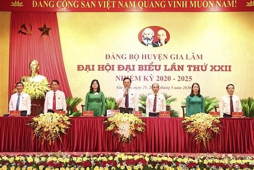 Phiên trù bị Đại hội Đại biểu Đảng bộ huyện Gia Lâm lần thứ XXII, nhiệm kỳ 2020-2025