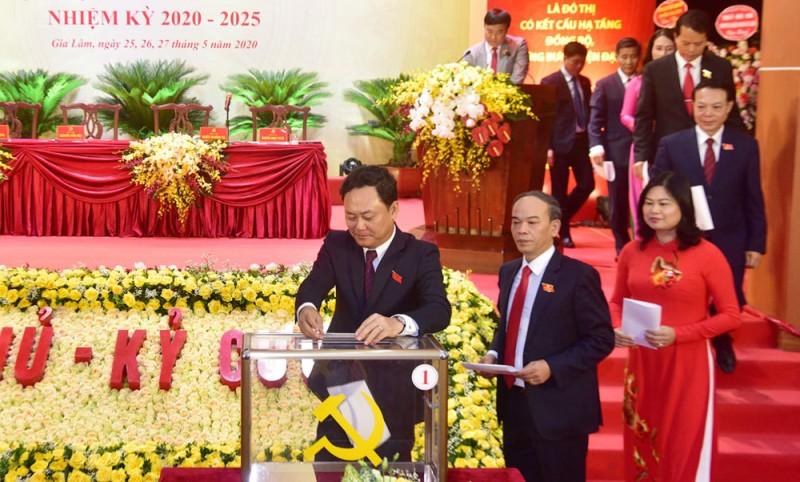 Đại hội điểm cấp quận, huyện của Thủ đô bầu trực tiếp Bí thư