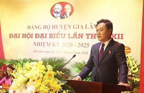 Ông Lê Anh Quân tái đắc cử chức Bí thư Huyện ủy Gia Lâm