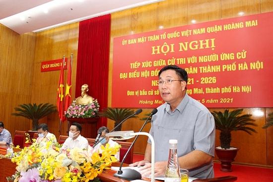 Cử tri quận Hoàng Mai: Mong mỏi phát triển Thủ đô bền vững
