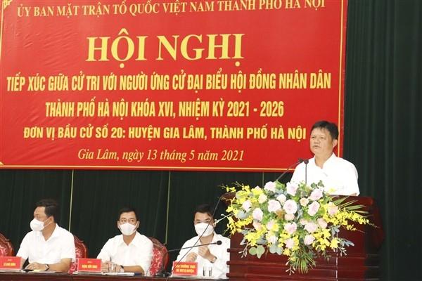 Mang tiếng nói cử tri huyện Gia Lâm đến với Hội đồng nhân dân Thành phố