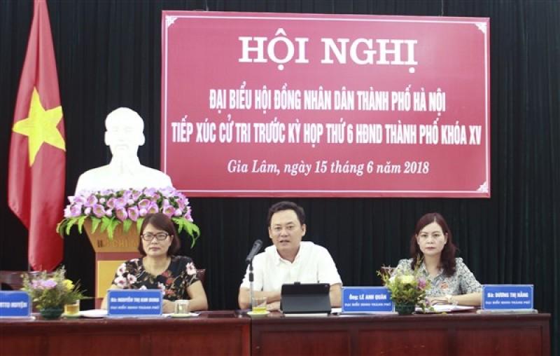 Đại biểu HĐND Thành phố tiếp xúc cử tri huyện Gia Lâm