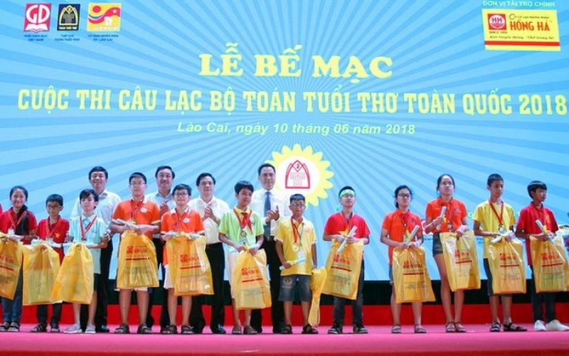 Đội tuyển học sinh Tiểu học quận Hoàng Mai đạt thành tích xuất sắc cuộc thi Toán Tuổi thơ toàn quốc