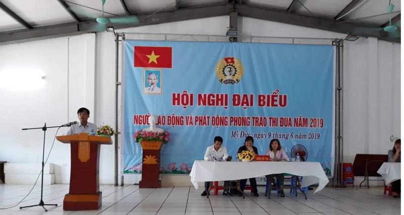 Hội nghị người lao động Công ty TNHH May xuất khẩu Đại Nghĩa năm 2019