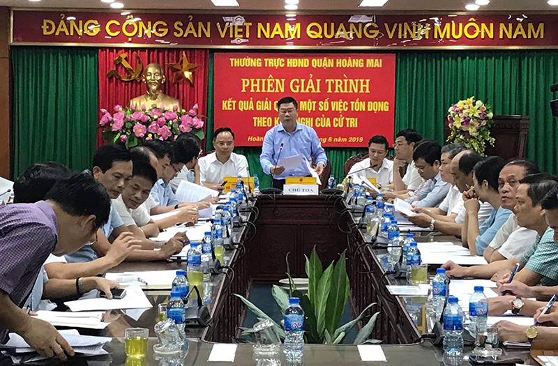Bố trí nhà tạm cư cho cư dân toà nhà A7 - Tân Mai trong trường hợp nguy hiểm