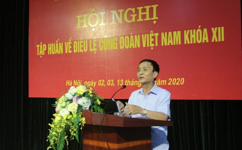 LĐLĐ Thành phố tập huấn và hướng dẫn thi hành Điều lệ Công đoàn Việt Nam khóa XII