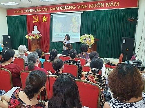 Hoàng Mai tổ chức truyền thông chăm sóc sức khỏe sinh sản, tư vấn sức khỏe cộng đồng