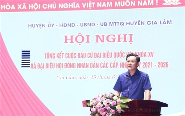 Gia Lâm tổ chức thành công cuộc bầu cử đại biểu Quốc hội khóa XV và đại biểu Hội đồng nhân dân các cấp nhiệm kỳ 2021- 2026