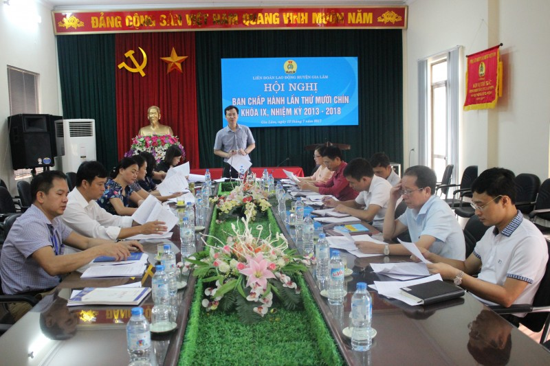 Dự kiến 199 đại biểu chính thức dự Đại hội CĐ huyện Gia Lâm lần thứ X