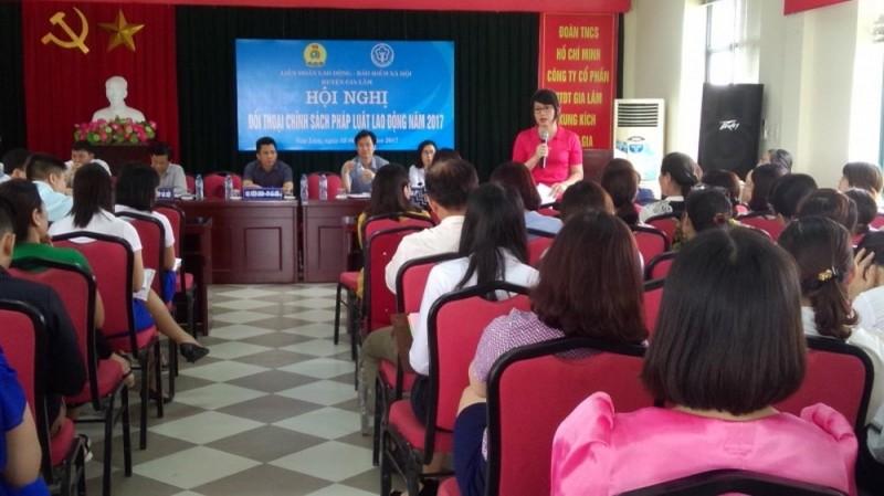 LĐLĐ huyện Gia Lâm: Tiếp tục nâng cao chất lượng thỏa ước lao động