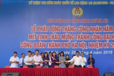 Tổ chức đợt cao điểm tuyên truyền các hoạt động nổi bật của Công đoàn Việt Nam