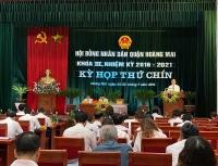 Kỳ họp thứ 9 HĐND quận Hoàng Mai khóa III