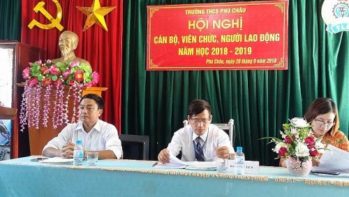 Đảm bảo tiến độ, chất lượng Hội nghị cán bộ công chức, viên chức khối trường học