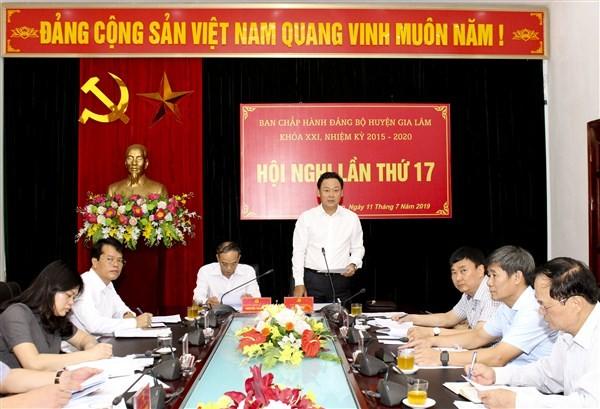 Hội nghị lần thứ 17, Ban chấp hành Đảng bộ huyện Gia Lâm khóa XXI