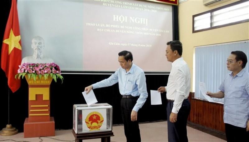 Đề nghị UBND Thành phố xét công nhận đạt chuẩn nông thôn mới cho huyện Gia Lâm