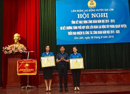 tong ket hoat dong cong doan cac truong nam hoc 2018 2019