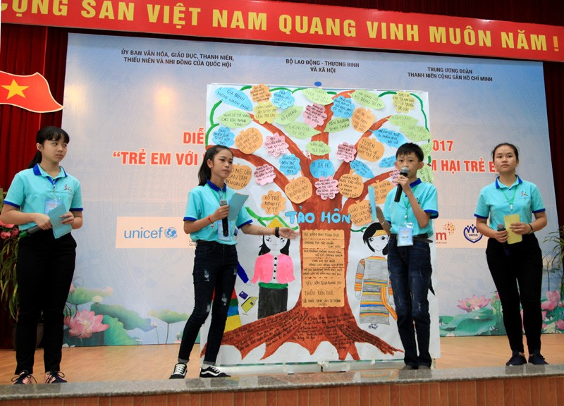 Cơ hội để trẻ em bày tỏ ý kiến, nguyện vọng tới các cấp lãnh đạo