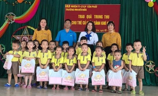 Tổ chức Tết Trung thu thiết thực, đầm ấm cho con công nhân viên chức lao động