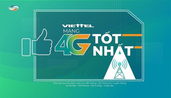 Tốc độ 4G Viettel tốt nhất Việt Nam