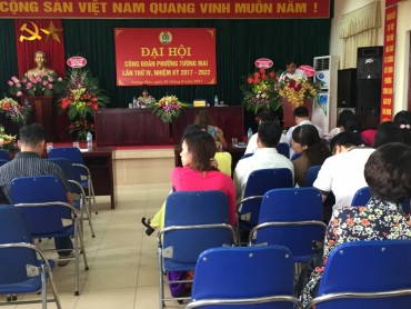 Chỉ đạo đại hội công đoàn phường Tương Mai nhiệm kỳ 2017-2022