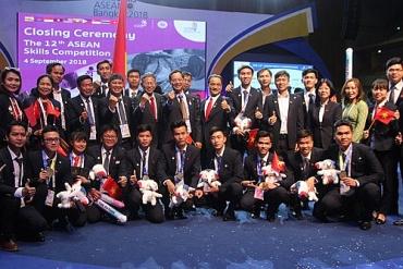 Việt Nam đứng thứ ba toàn đoàn tại Kỳ thi tay nghề ASEAN lần thứ 12