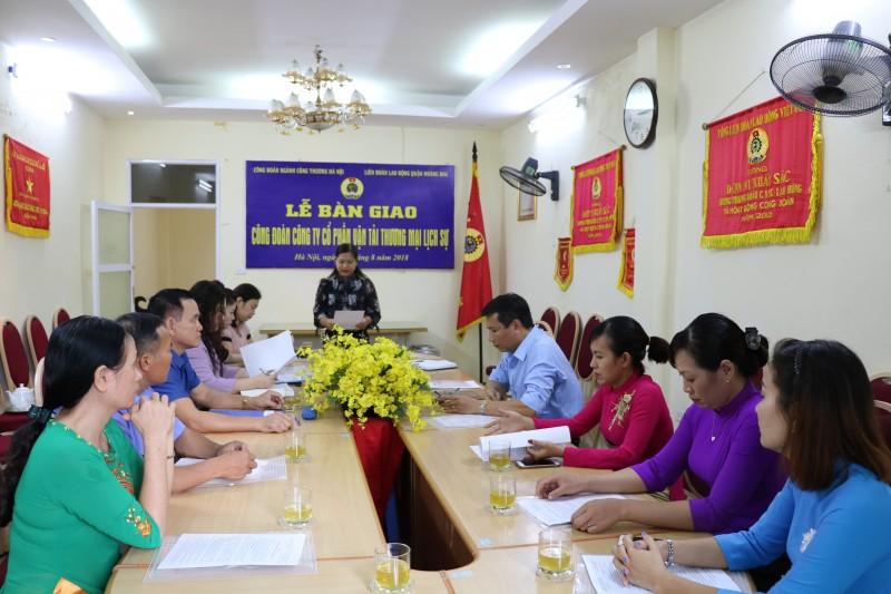 LĐLĐ Quận Hoàng Mai tiếp nhận thêm một công đoàn cơ sở