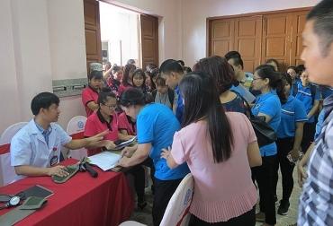 Hơn 600 đoàn viên, CNVCLĐ ngành Dệt May Việt Nam tham gia hiến máu nhân đạo