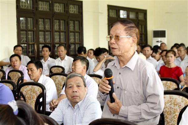 Đại biểu Quốc hội Thành phố Hà Nội tiếp xúc cử tri huyện Gia Lâm trước kỳ họp thứ 8