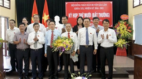 Hội đồng nhân dân huyện Gia Lâm có tân Chủ tịch