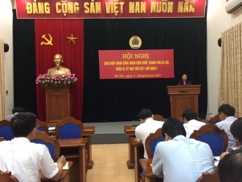 Hội nghị BCH CĐ Viên chức Thành phố Hà Nội lần thứ XV