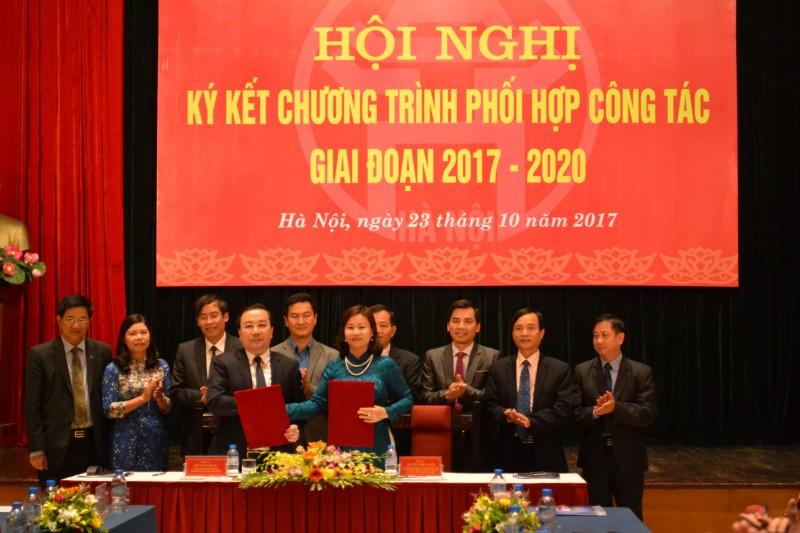 Ký kết chương trình phối hợp công tác giai đoạn 2017- 2020
