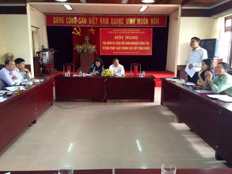 Tọa đàm trao đổi kinh nghiệm tư vấn pháp luật trong các cấp công đoàn Thủ đô