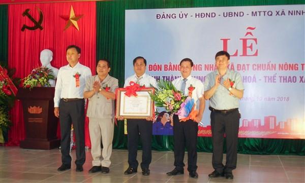 Xã Ninh Hiệp, huyện Gia Lâm được công nhận đạt chuẩn Nông thôn mới