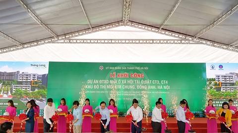 Khởi công Dự án nhà ở xã hội tại xã Kim Chung, huyện Đông Anh