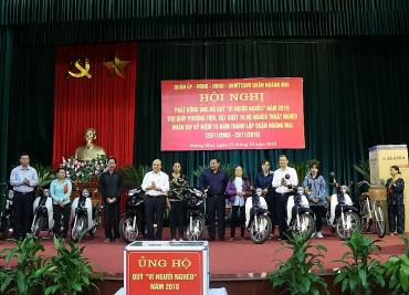 Quận Hoàng Mai: Trên 1,3 tỷ đồng hỗ trợ 1784 lượt người nghèo