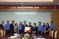 Lãnh đạo Liên đoàn Lao động Thành phố tiếp thân mật Đoàn cán bộ Liên hiệp Công đoàn Rengo Osaka