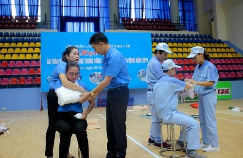 228 thí sinh dự Hội thi An toàn vệ sinh lao động năm 2019