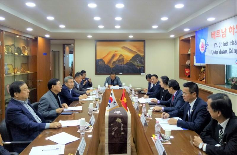 Trao đổi kinh nghiệm hoạt động công đoàn hai thành phố Hà Nội (Việt Nam) và Seoul (Hàn Quốc)