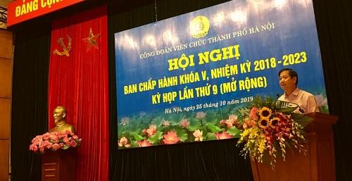 hoi nghi ban chap hanh cong doan vien chuc thanh pho ha noi khoa v ky hop lan thu 9