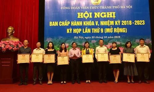 Hội nghị Ban chấp hành Công đoàn Viên chức Thành phố Hà Nội khóa V, kỳ họp lần thứ 9