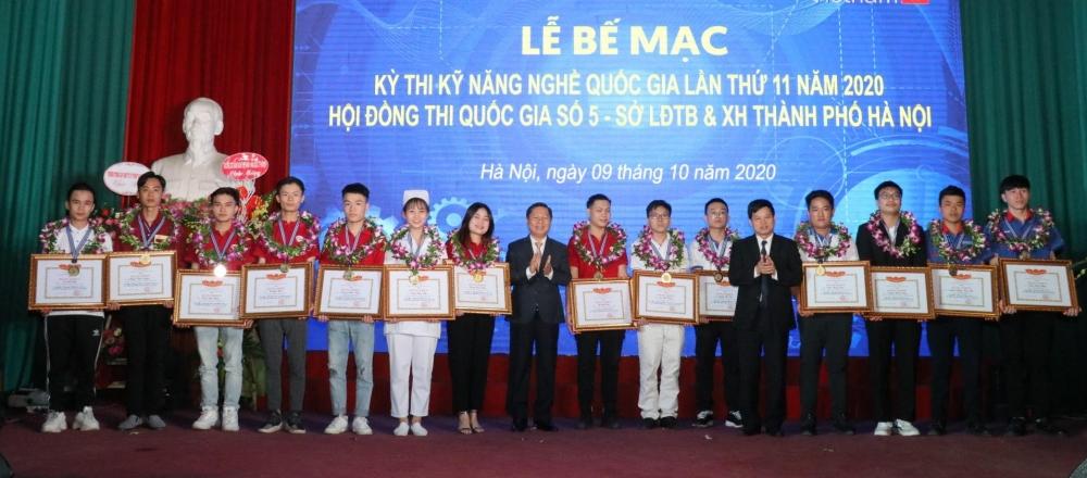 Bế mạc Kỳ thi Kỹ năng nghề quốc gia lần thứ 11 năm 2020 tại Hội đồng thi quốc gia số 5