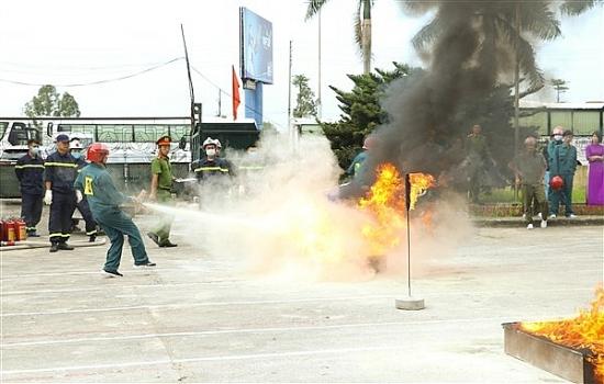 Hội thao nghiệp vụ chữa cháy và cứu nạn cứu hộ huyện Gia Lâm năm 2020