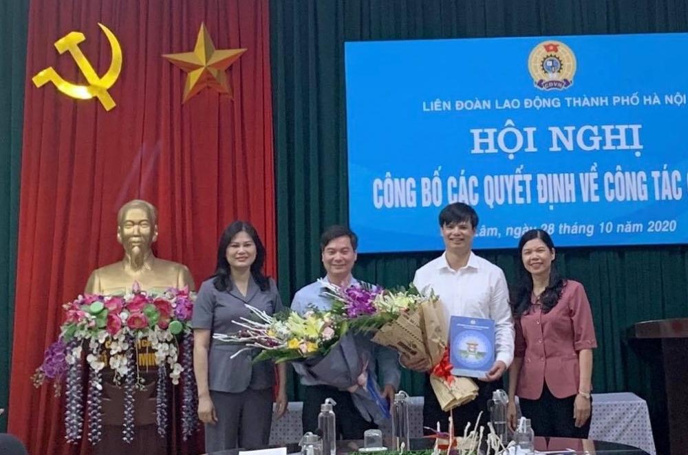 Công bố Quyết định Chủ tịch, Phó Chủ tịch Liên đoàn Lao động huyện Gia Lâm khoá X, nhiệm kỳ 2018-2023