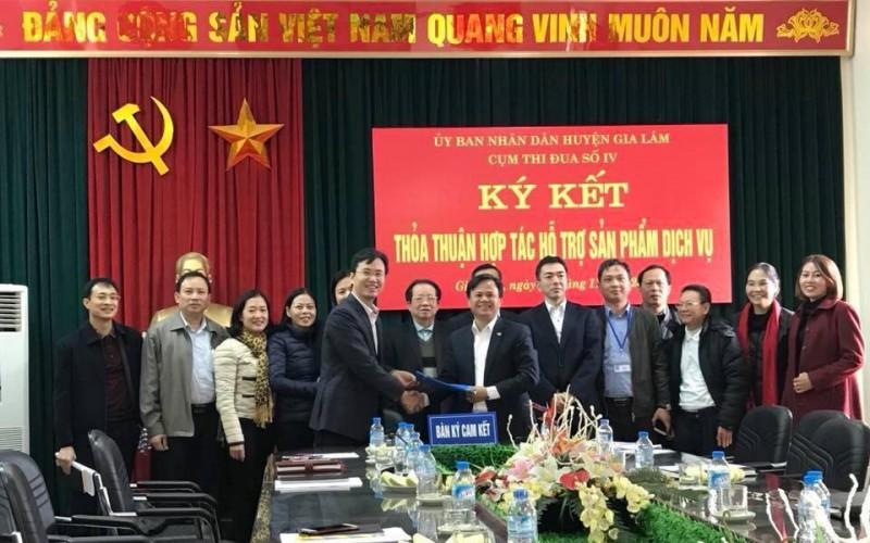 Cụm thi đua khối doanh nghiệp huyện Gia Lâm ký thỏa thuận hợp tác hỗ trợ sản phẩm dịch vụ