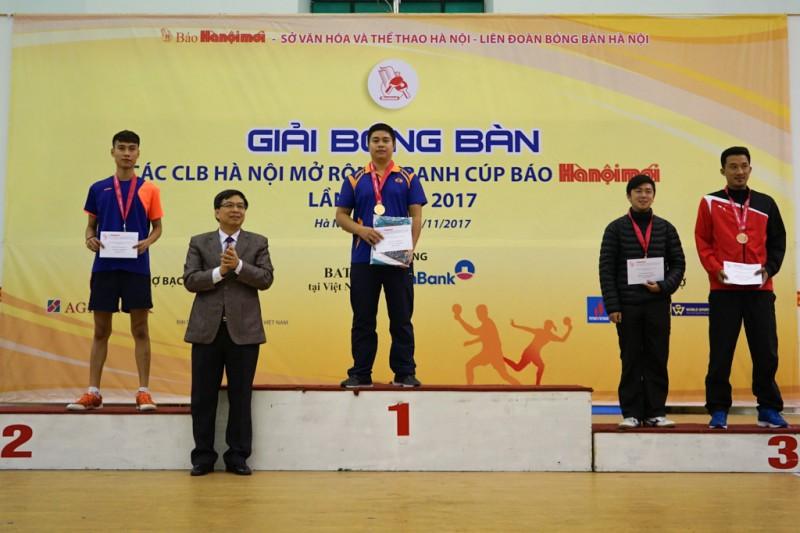 Bế mạc Giải bóng bàn các CLB Hà Nội mở rộng tranh cúp Báo Hànôịmới lần thứ V-2017