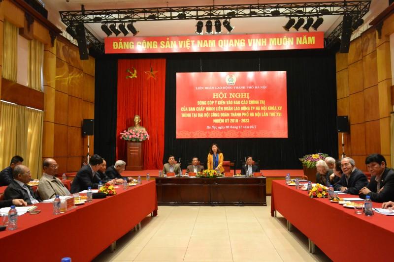 Đóng góp ý kiến vào Dự thảo Báo cáo Chính trị Đại hội XVI Công đoàn Thành phố