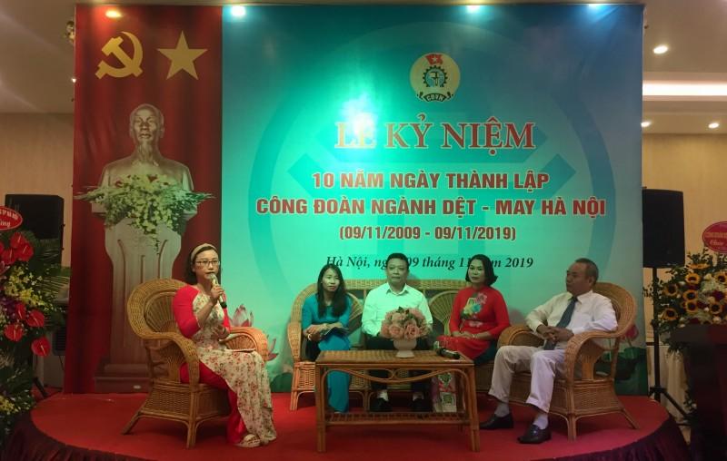 Công đoàn ngành Dệt- May Hà Nội long trọng kỷ niệm 10 năm ngày thành lập
