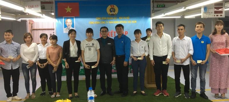 Công đoàn ngành Dệt- May Hà Nội có thêm 120 đoàn viên mới