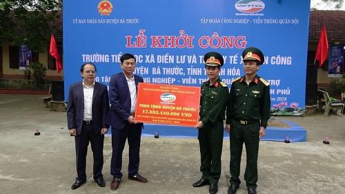 Viettel khởi công các công trình hỗ trợ huyện nghèo Bá Thước, Thanh Hóa